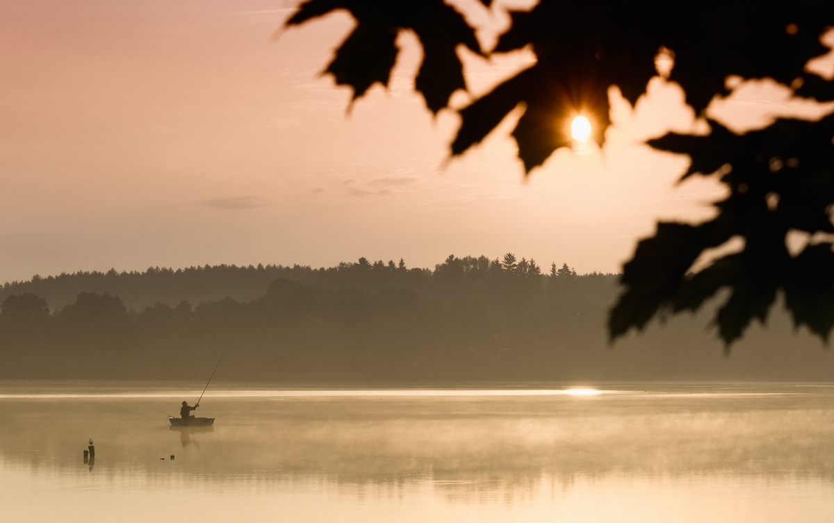 Jezioro Ukiel, zatoka w Łupstychu - kier. wsch.