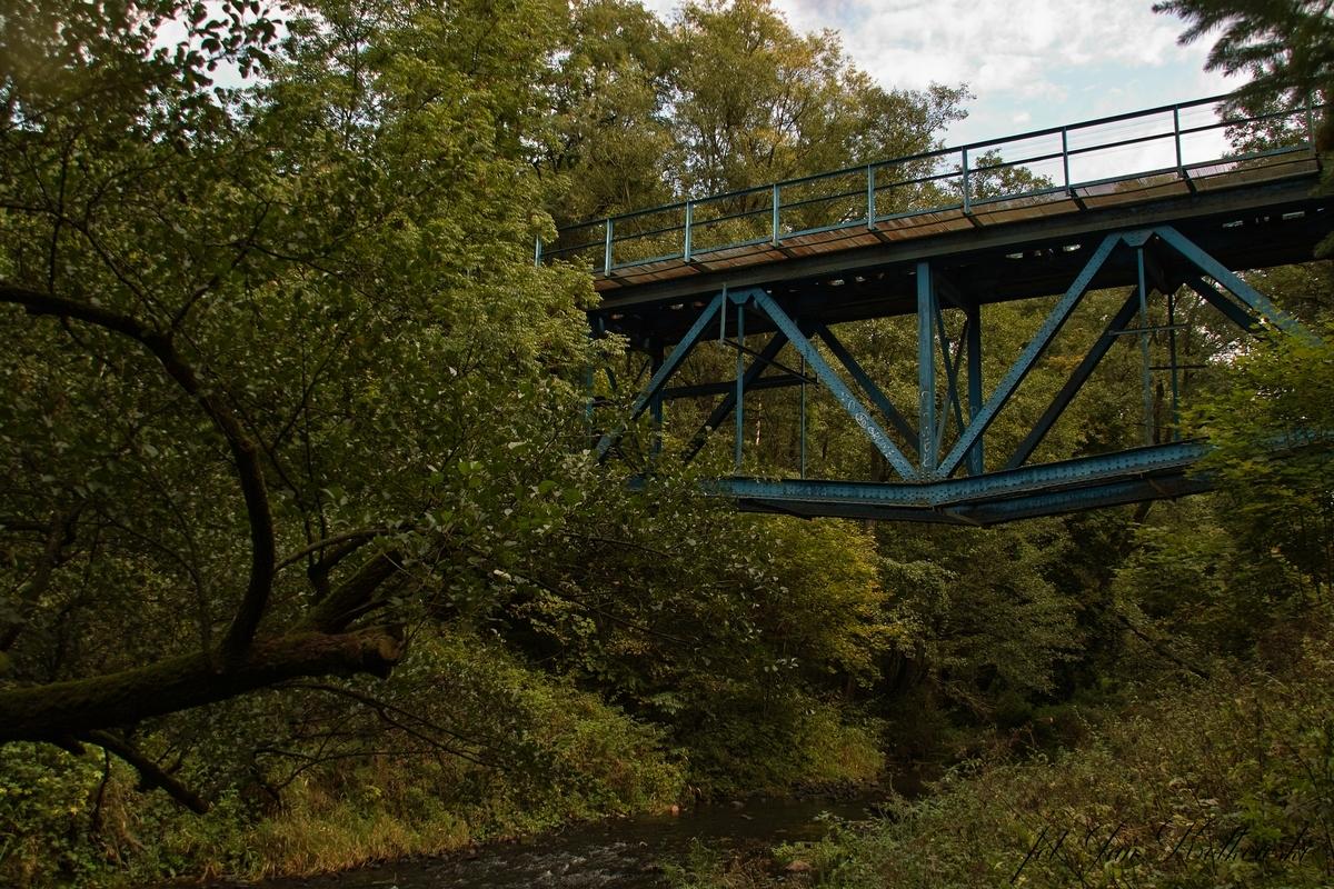 Most kolejowy na Drwęcy Warmińskiej - nieczynna trasa Orneta -Słobity