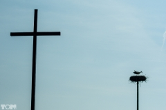 Łomy, krzyż