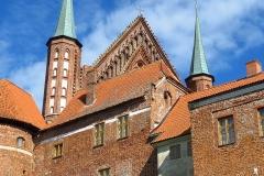 Frombork, Wzgórze Katedralne, północno-zachodni ciąg murów kier pd-wsch.