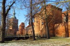 Frombork, Wzgórze Katedralne, południowy ciąg murów kier. zach.