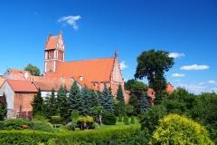 Jeziorany. Kościół pw. św. Bartłomieja. Widok od ulicy Kościuszki
