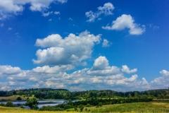 Jezioro Kielarskie widok od Leśnej