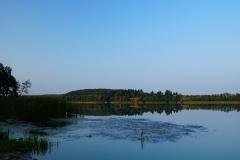 Jezioro Symsar, okolice wsi Kłębowo, pow. lidzbarski. Kierunek południowy, brzeg zachodni