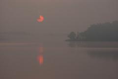 Jezioro Wadąg, widok z mola w Słupach w kier. wsch.