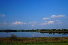 Jezioro Wielochowskie, widok ze wzgórza w okolicy południowego brzegu