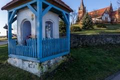 Kapliczka i kościół w Brąswałdzie