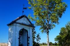 Kapliczka, okolice wsi Stoczek, pow. lidzbarski, przy drodze Kiwity - Stoczek Klasztorny