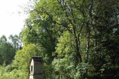 Kapliczka w lesie koło wsi Pluski