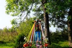 Kapliczka, wieś Klutajny, pow. lidzbarski