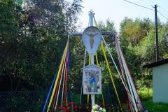 Kapliczka, wieś Kobiela, pow. lidzbarski