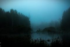 Kiersztanowo, moczary o świcie