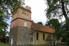 Kościół we wsi Runowo koło Lidzbarka Warmińskiego