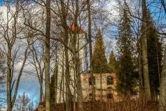 Kobułty - ruiny kościoła ewangelickiego