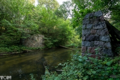 Las Warmiński, rzeka Łyna przyczółki mostu