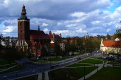 Lidzbark Warmiński - widok na katedrę, kierunek pół.