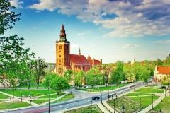 Lidzbark Warmiński - widok na katedrę