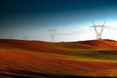 Linia energetyczna w okolicach Mątek