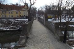 Most koło kościoła p.w. Św. Piotra i Pawła w Lidzbarku Warmińskim