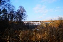 Most kolejowy na zlikwidowanym torowisku na trasie Lidzbark Warmiński - Bartoszyce
