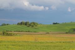 Okolice wsi Unikowo, widok na wschód