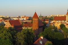 Panorama Olsztyna z wieży kościoła garnizonowego, kier. wsch.
