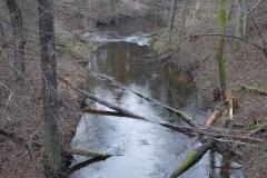 Pasłęka między jeziorem Łęguty a Isąg
