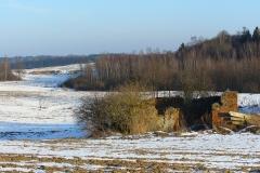 Pola, lasy, ruiny - Księżno zimą, kierunek pół.- wsch