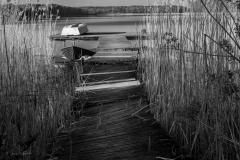 Pomost na jeziorze Wadąg