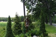 Przydrożny krzyż koło wsi Kudypy