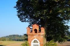 Przydrożna kapliczka, okolice wsi Łaniewo, kier. Lubomino