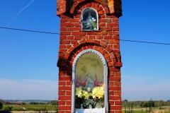 Przydrożna kapliczka, okolice wsi Wilczkowo