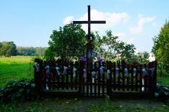 Przydrożna kapliczka. Wieś Nerwiki, gm. Górowo Iławeckie, pow. bartoszycki