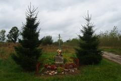 Przydrożny krzyż, okolice wsi Podleśna