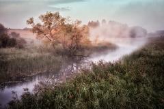 Rzeka Kiermas, widok z mostu - kier. zach.