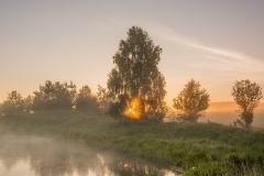 Staw przy Leśniczówce GAJA - Kaborno o świcie