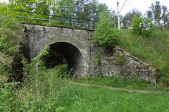 Wiadukt kolejowy na trasie Olsztyn-Nidzica k. wsi Gągławki