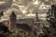 Widok na zamek i kościół w Lidzbarku Warmińskim