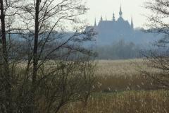 Widok znad Baudy na Katedrę Fromborską, kier. pd-zach