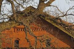 Wieś Księżno, detal architektoniczny, szczyt obory