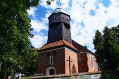 Wieś Orzechowo. Kościół p.w. Niepokalanego Poczęcia NMP
