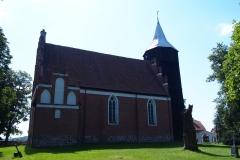 Wieś Radostowo. Kościół p.w. św. Anny