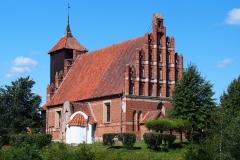 Wieś Tłokowo. Kościół pw. św. Jana Chrzciciela