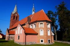 Wieś Kraszewo, pow. lidzbarski. Kościół pw. Świętej Elżbiety