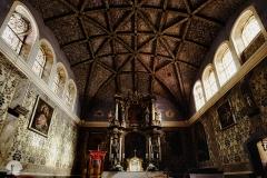 Wnętrze kościoła Św. Jana Chrzciciela w Jonkowiee