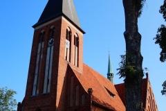 Żegoty, pow. lidzbarski. Kościół pw. Świętego Jana Ewangelisty