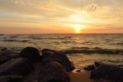 Zachód słońca nad Zalewem Wiślanym, kier. pn-zach.