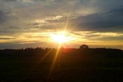 Zachód słońca w Księżnie- kierunek północny
