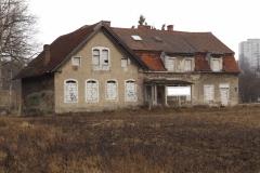 Zrujnowany Dworek przy Łynie, ul. Knosały w Olsztynie